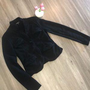 James Perse black fleece jacket
